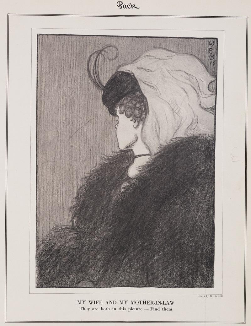 """William Ely Hilll - obrázok """"Moja žena a moja svokra"""""""