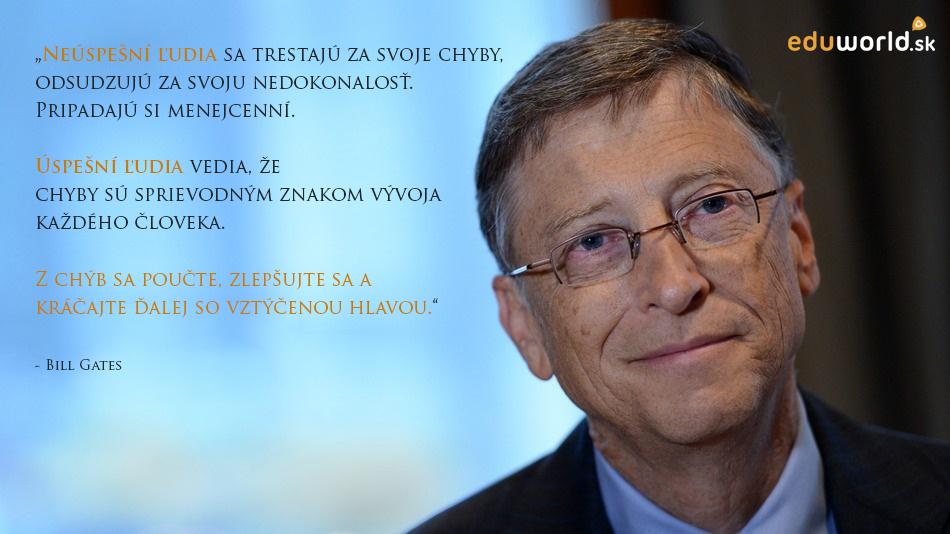 Bill Gates, citaty, úspech