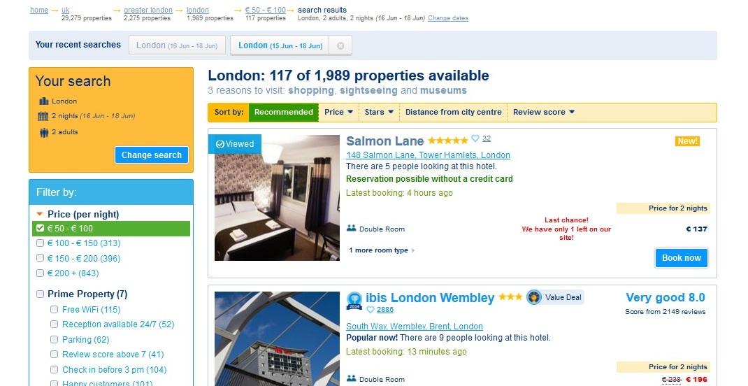 Lacny hotel v Londyne