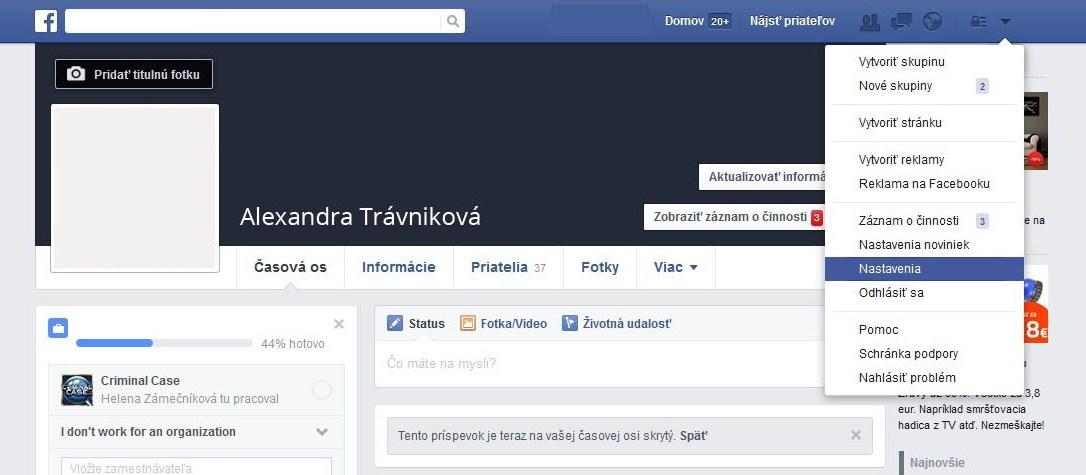 Nadstavenie súkromia na Facebooku