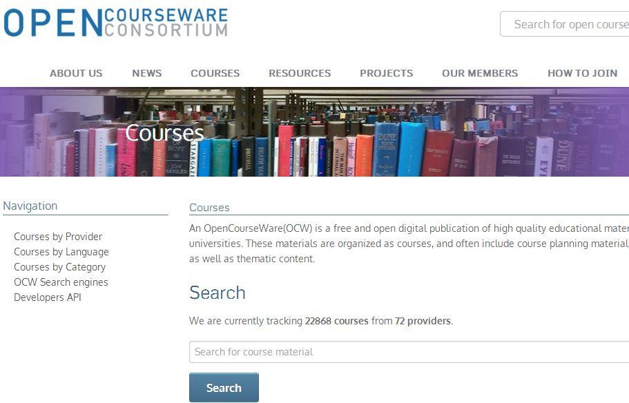 Vzdelávanie zdarma- Open Courseware Consortium