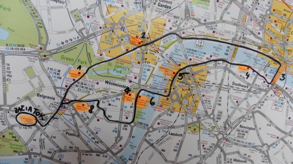 Trasa centrálnym Londýnom
