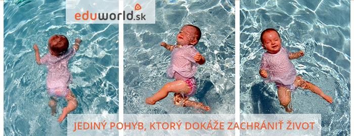 plávanie detí- zachráň život- ISR technika plávania