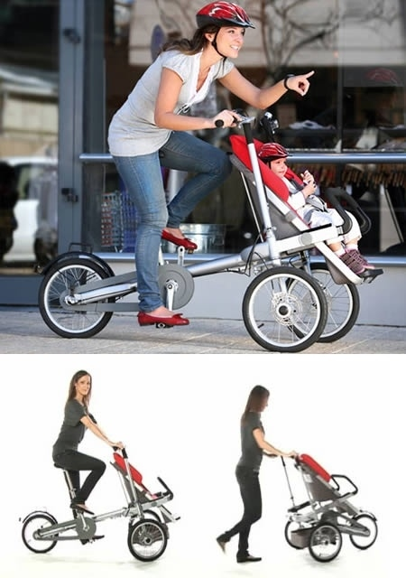 bicykel-kočík v jednom