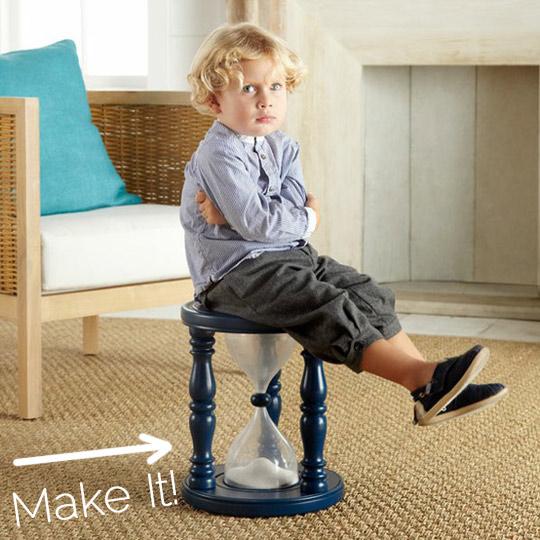 Stolička-časovač pre neposlušné deti