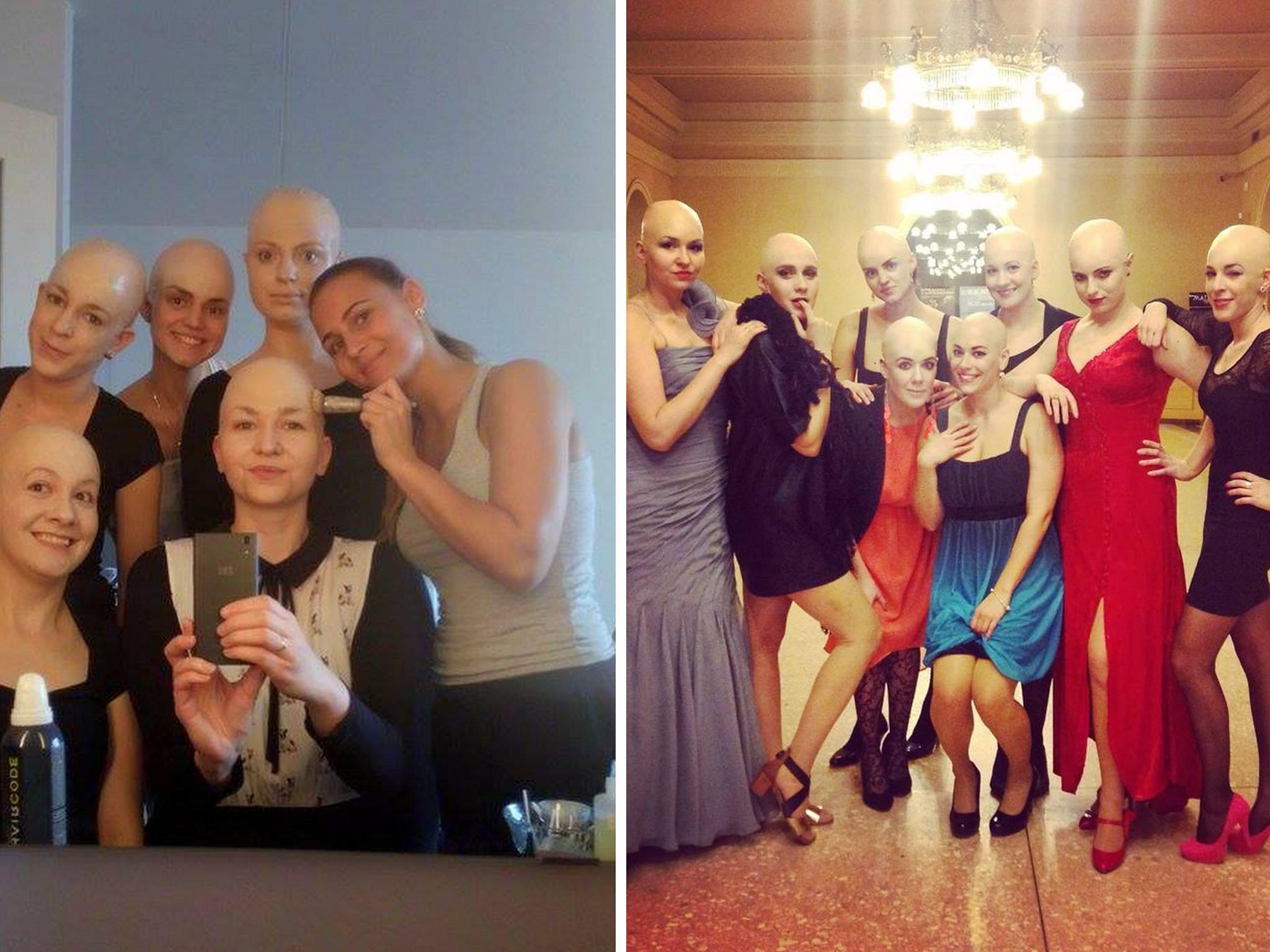 Dievčatá na plese s plešinou podporili kamarátku s rakovinou