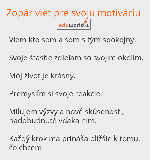 každodenná motivácia-eduworld.sk