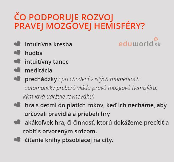 Rozvoj pravej hemisféry mozgu-eduworld.sk