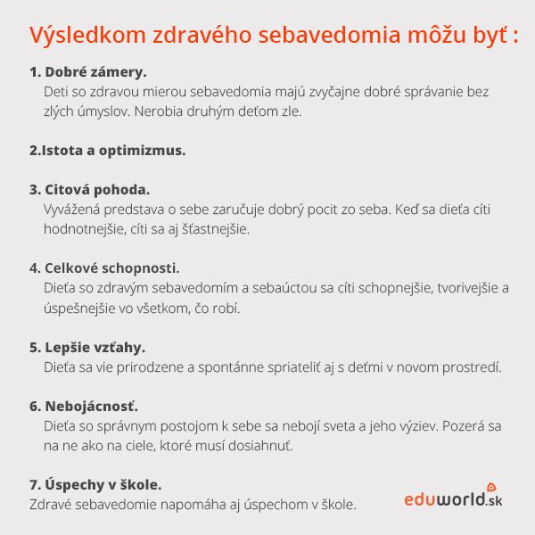zdravé sebavedomie u detí -eduworld.sk