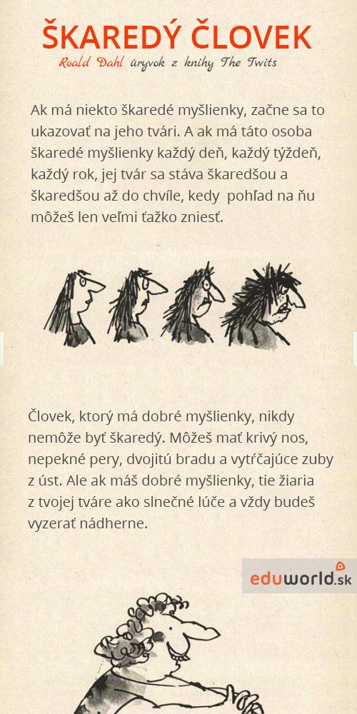 škaredý človek- Roald Dhal