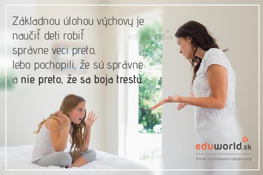 Rešpekt a výchova - citát