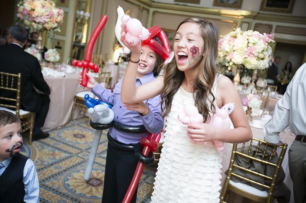 Balony a deti na svadbe