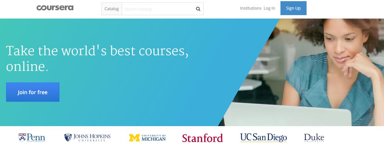 Zdoj: Screenshot Coursera