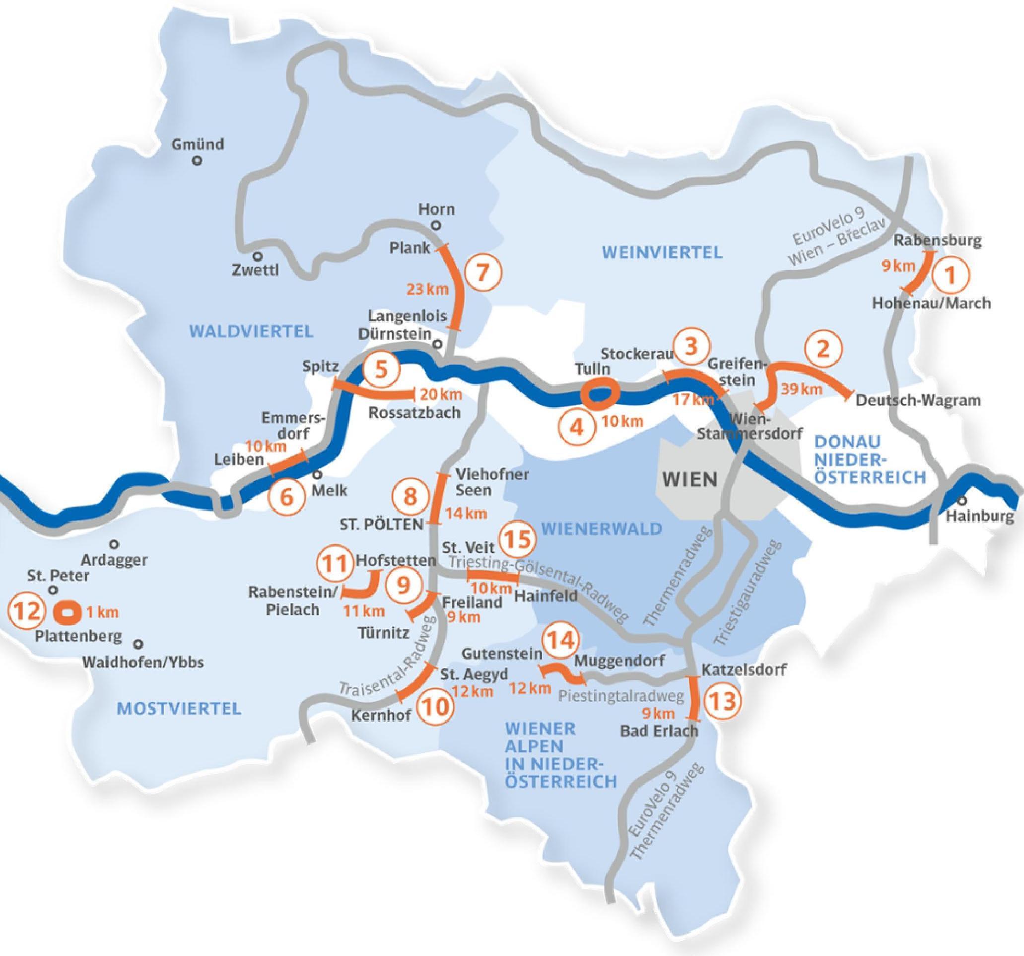 Cyklotrasy vhodné pre rodiny s deťmi v Dolnom Rakúsku. / Zdroj: dolne-rakusko.info
