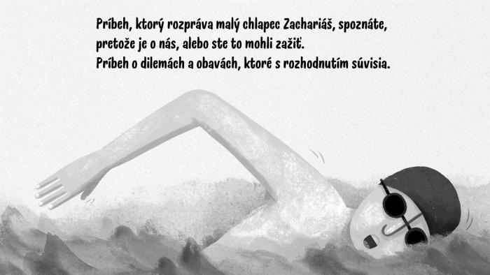 Knihu Zachariáš a studená voda od autora Daniela Rušara ilustrovala Adela Režná.