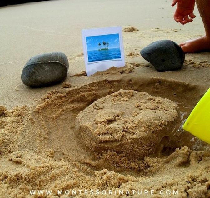 Vytvárame ostrov. Zdroj: www.montessorinature.com