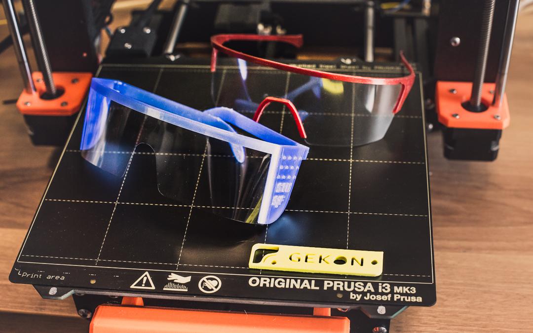 Modely ochranných okuliarov / Zdroj: STU