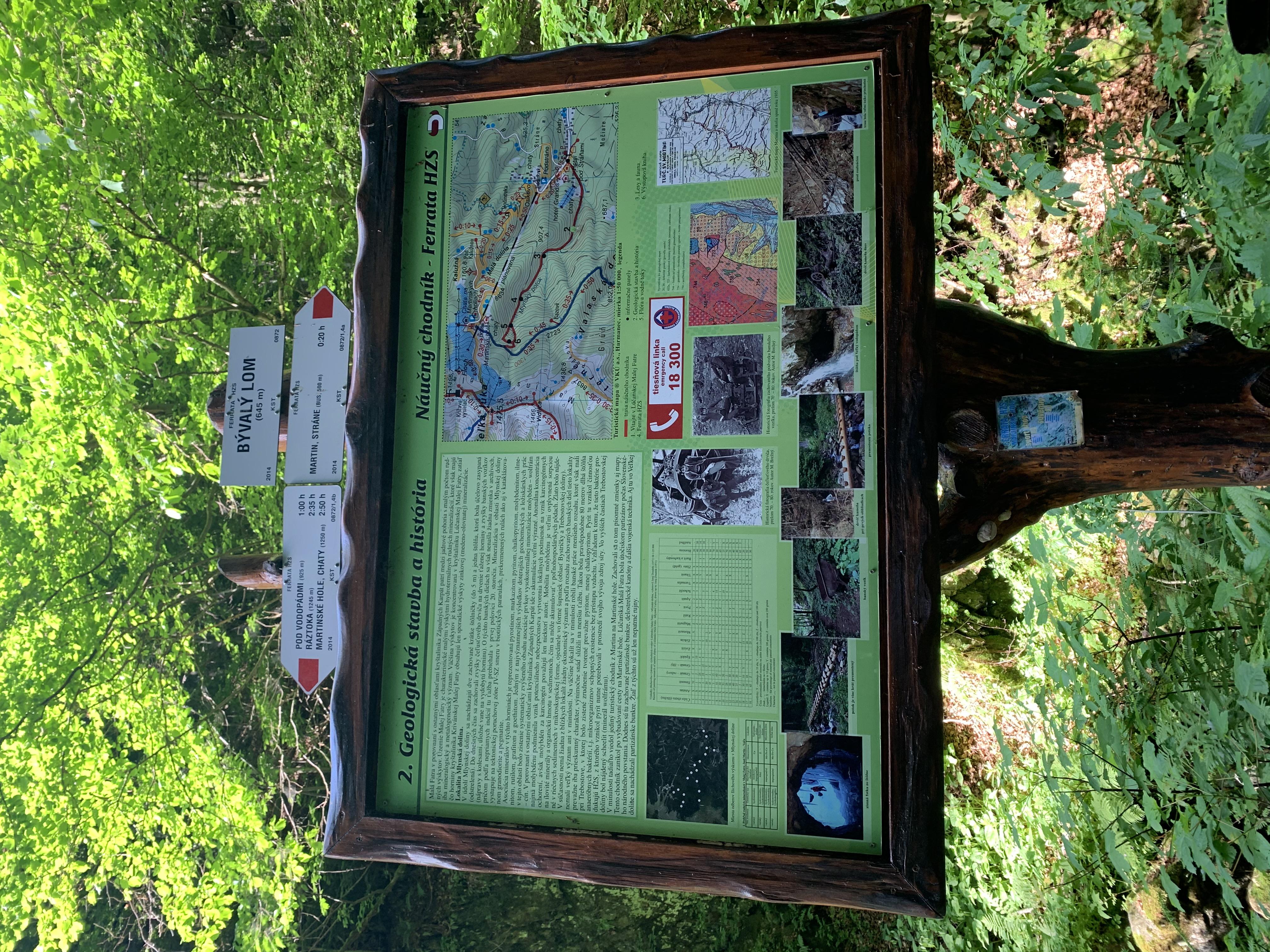 Informačná tabuľa popisujúca geologickú históriu a stavbu./ Zdroj: Hanka Herinková