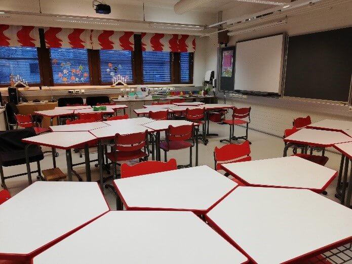 Trieda v základnej škole vo Fínsku
