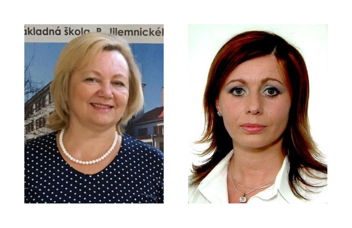 Zľava: Anna Cúttová, riaditeľka Základnej školy P. Jilemnického vo Zvolene a Jana Stehlíková, školská psychologička