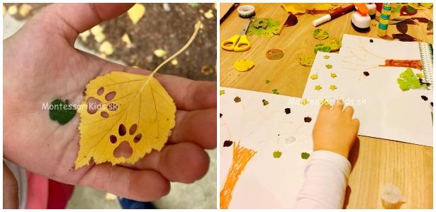 Dierkovanie listov / Foto: MontessoriKids.sk