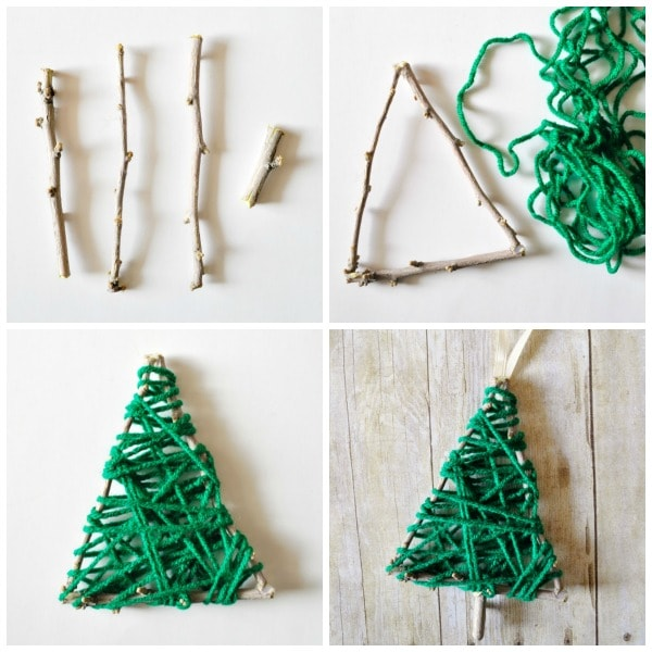 Vianočné ozdoby z halúzok / Zdroj: iheartcraftythings.com