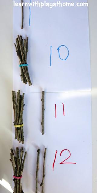 Pri rátaní používame hmatateľné predmety. Foto: learnwithplayathome.com