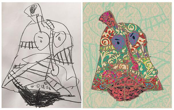 Detská kresba na obraze / Zdroj: Veronika Fodorová