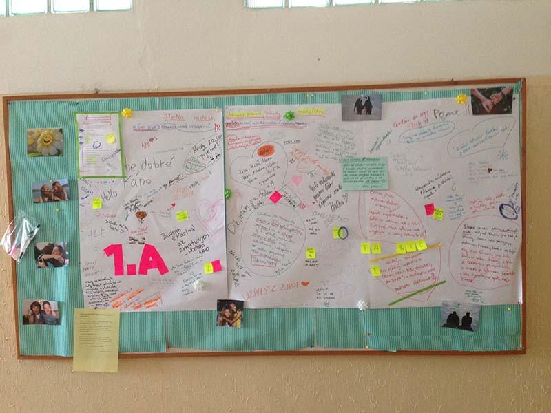 Stena podpory, radosti a optimizmu pre žiakov