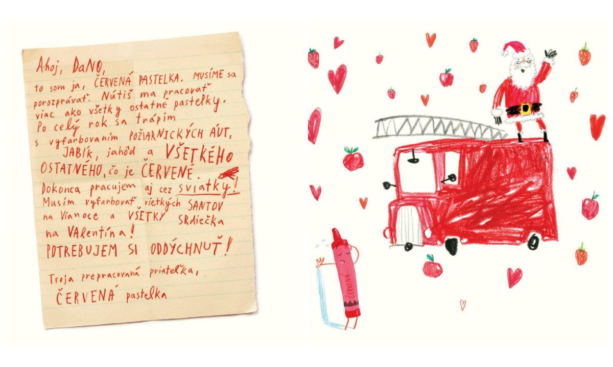 Kniha Deň, keď pastelky dali výpoveď, Tu sme / Zdroj: Čítajme si spolu