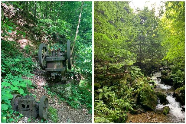 Historické banícke zariadenia nás sprevádzajú ešte niekoľko metrov./ Zdroj: Hanka Herinková