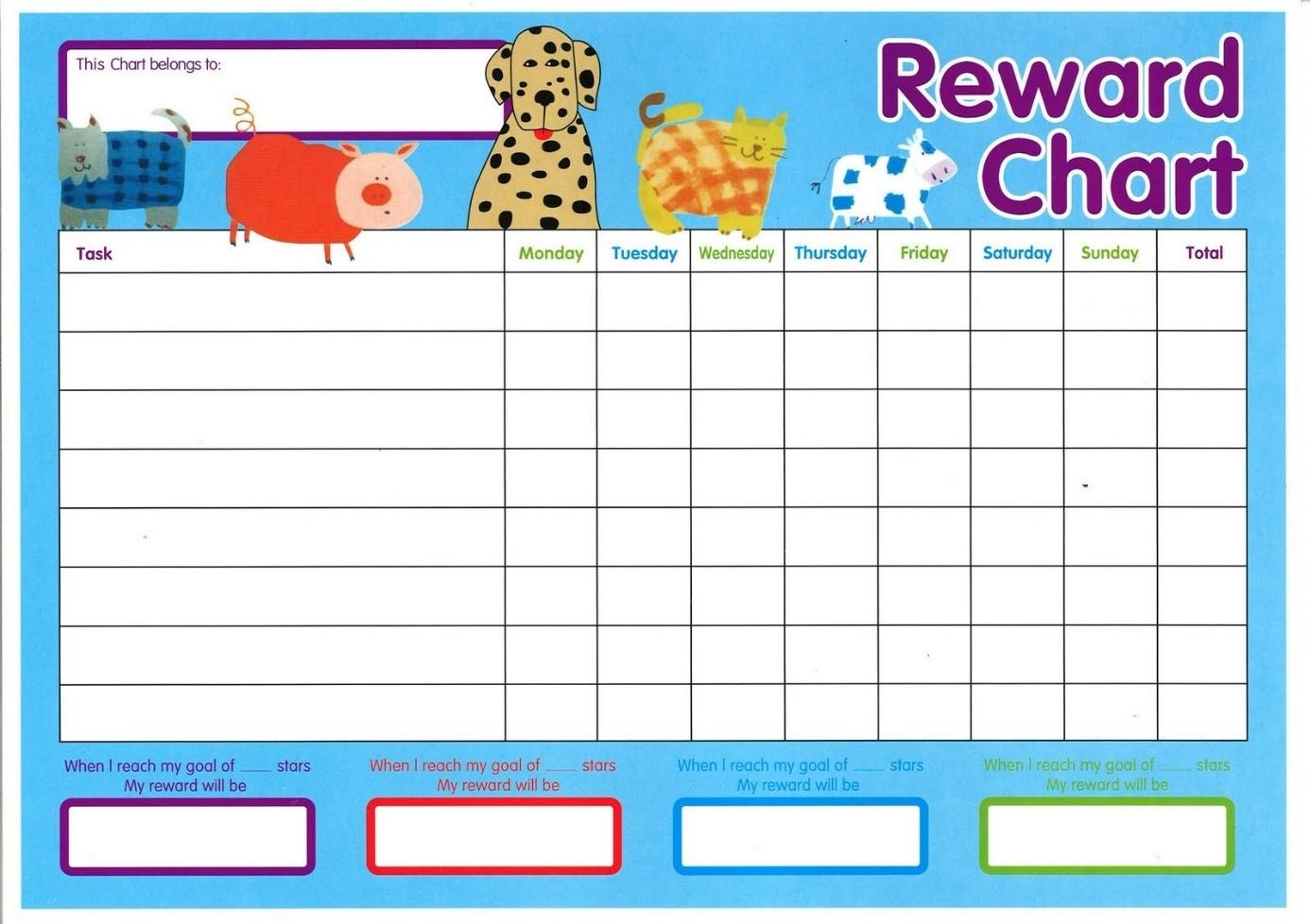 Tabuľka na odmeňovanie detí / Zdroj: activityshelter.com