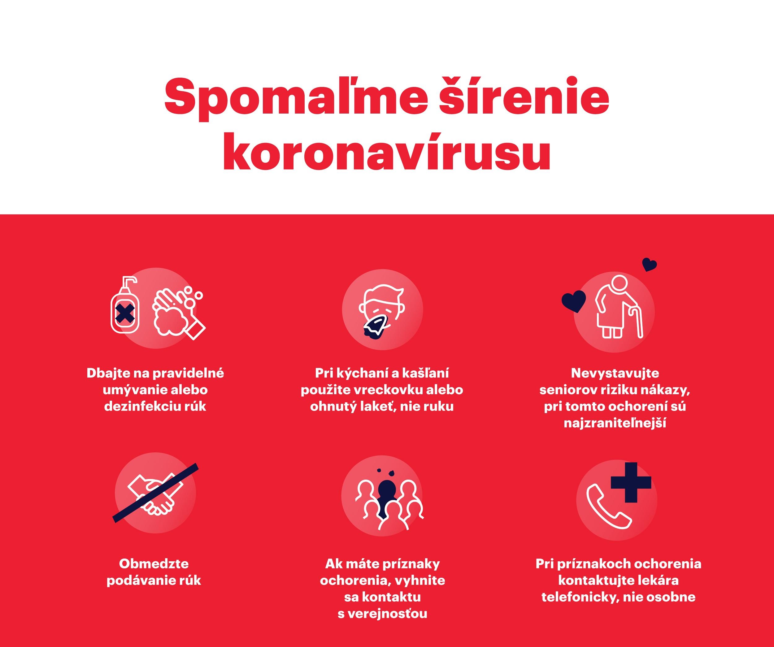 Ako sa nenakaziť a spomaliť šírenie koronavírusu / Zdroj: BSK