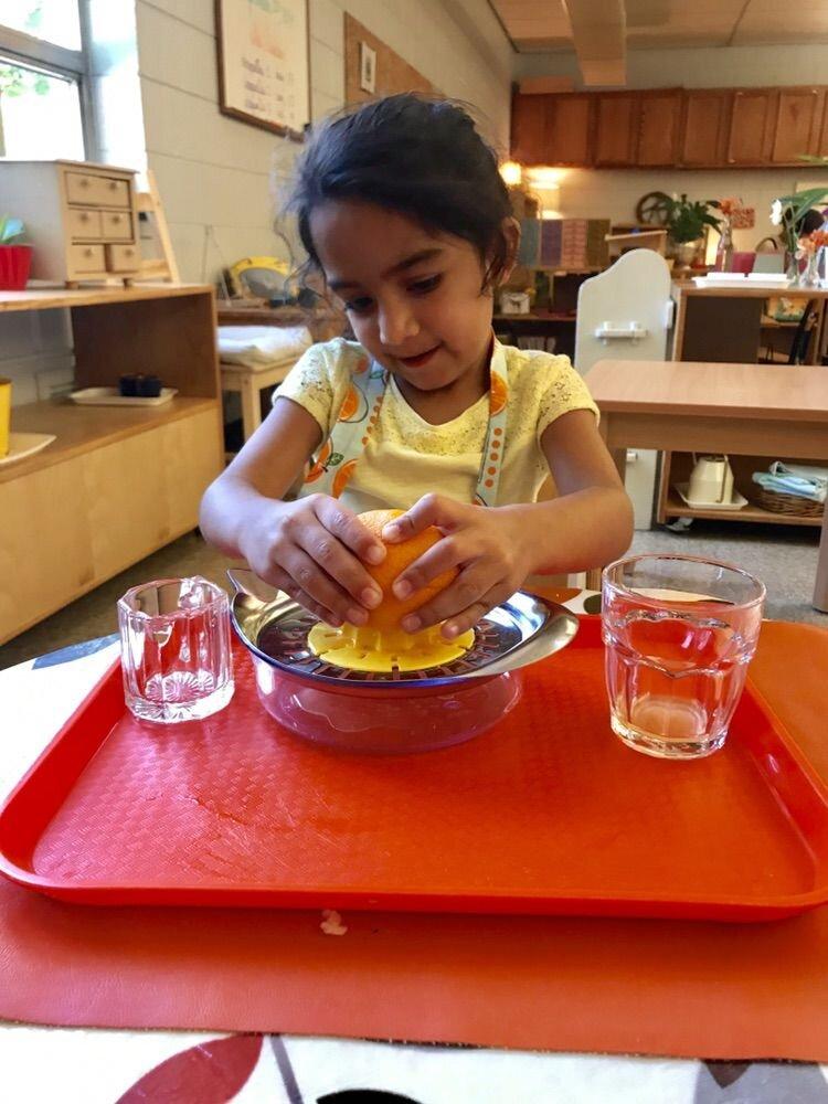 Montessori pomôcky praktického života. Foto: steppingstonesgr.org