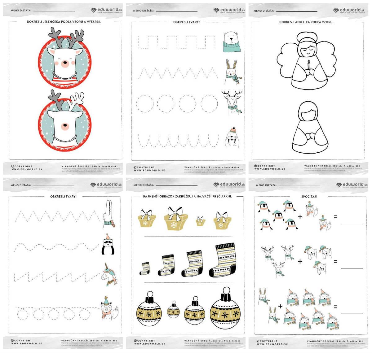 Vianočné pracovné listy pre predškolákov na stiahnutie / Zdroj: Eduworld