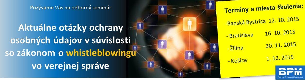 Aktuálne otázky ochrany osobných údajov v súvislosti so zákonom o whistleblowingu vo verejnej správe
