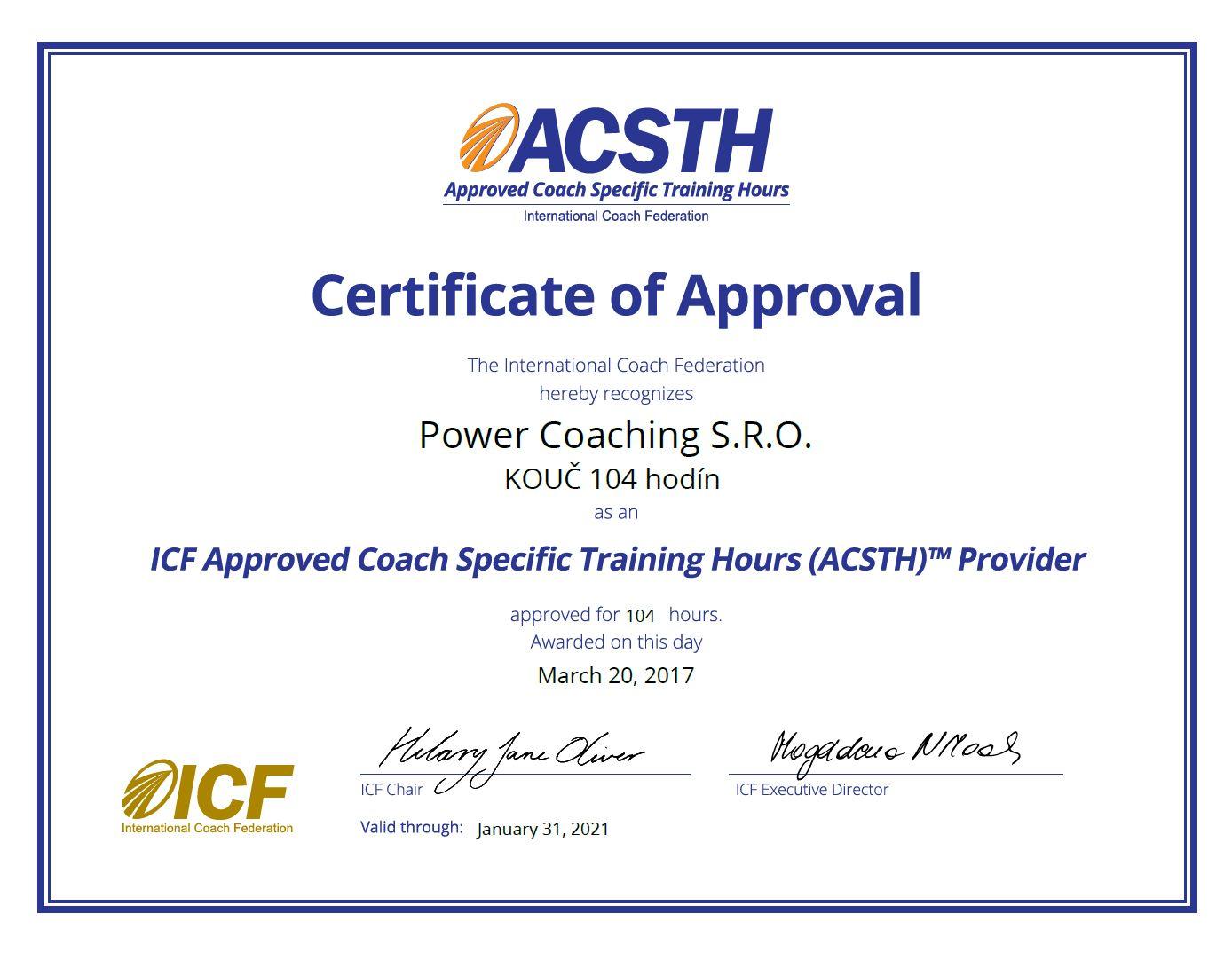 Získajte medzinárodný certifikát ICF (International Coach Federation)