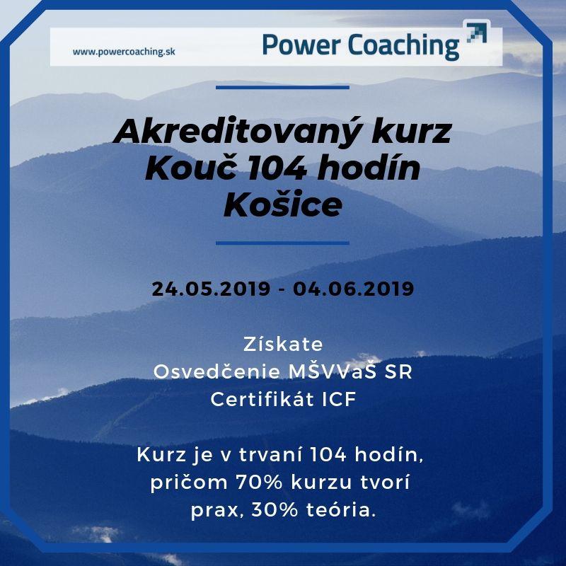 Akreditovaný kurz KOUČ 104 hod. Košice