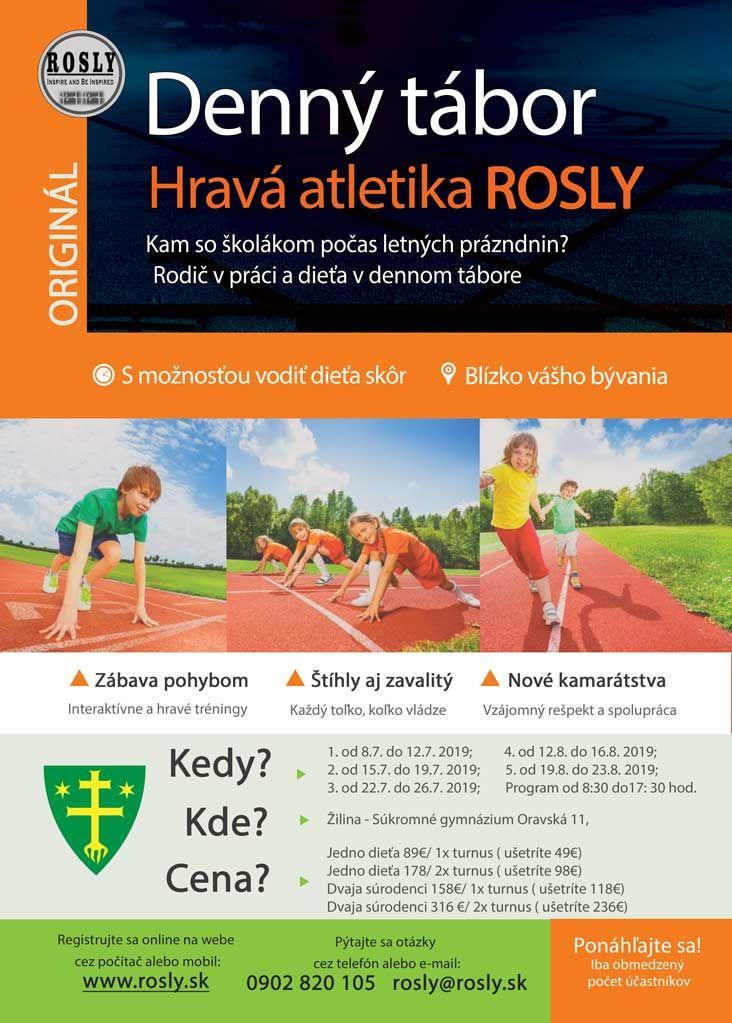 Denný tábor Hravá atletika ROSLY