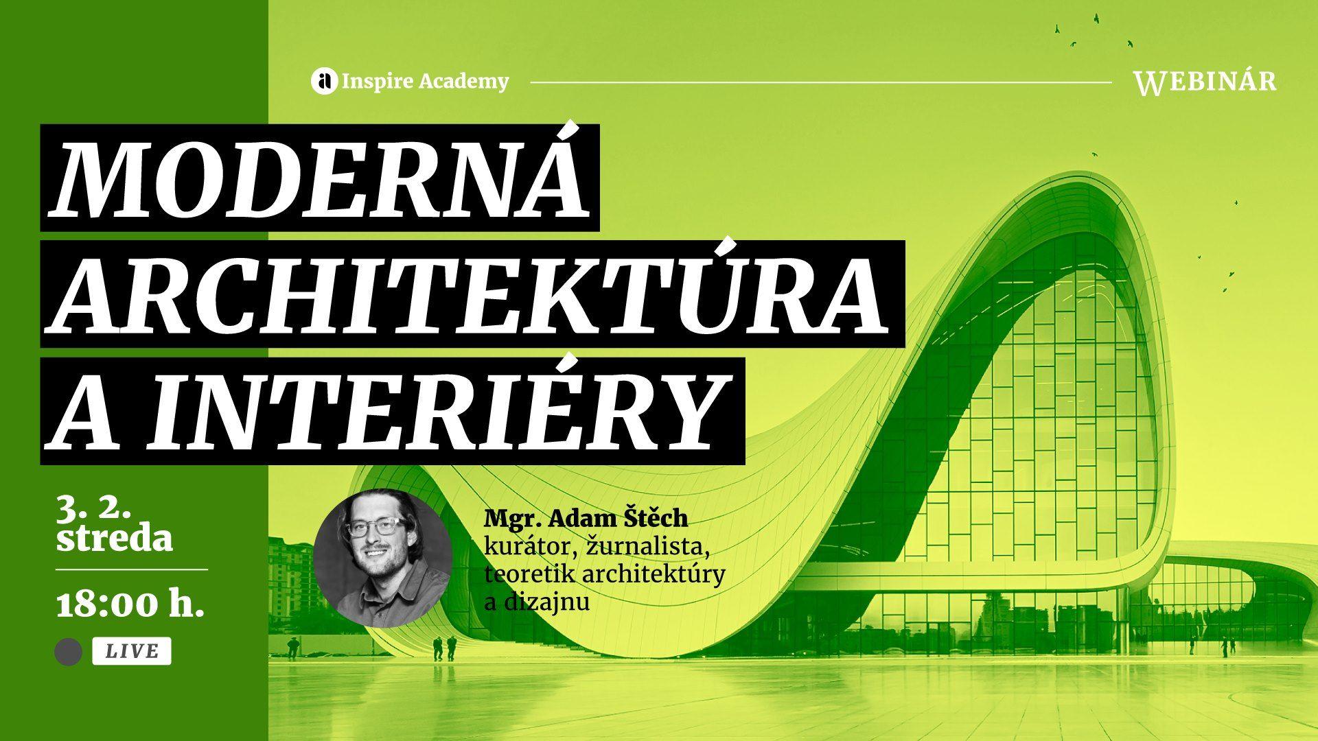 Moderná architektúra a interiéry   Webinár