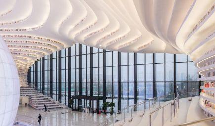 Veľkolepá čínska knižnica láka na svoj moderný dizajn aj tých, ktorí po knihe nikdy nesiahli