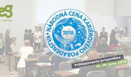Národná cena kariérového poradenstva 2018 – Staňte sa súčasťou príbehu rozvoja kariérového poradenstva na Slovensku