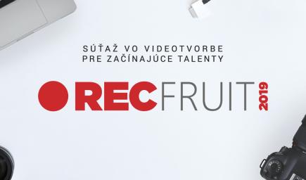 Súťaž RECfruit pre mladých videomakerov tu nie je NÁHODOU. Jej cieľom je podporiť videotalenty v ďalšom rozvoji