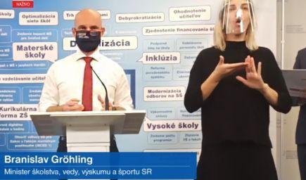 B. Gröhling predstavil, ako by malo vyzerať moderné slovenské školstvo (+ VIDEO)