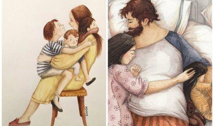 16 ilustrácií, ktoré zachytávajú každodenné rodinné šťastie