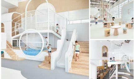 Austrálske herné centrum NUBO pre deti má dizajn, ktorý vás okamžite očarí