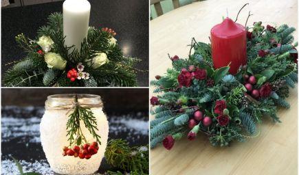 Inšpirácie na vianočné svietniky