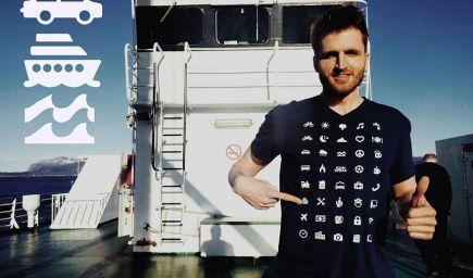 Cestovateľ vymyslel tričko, s ktorým precestujete svet aj keď nehovoríte žiadnym cudzím jazykom