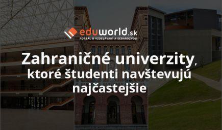 Zoznam najnavštevovanejších univerzít v rámci programu Erasmus+
