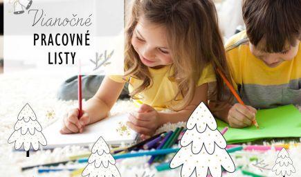 6 vianočných pracovných listov pre predškolákov